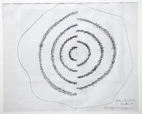 ROBERT SMITHSON Island Maze (Roots & Tree Limbs), 1971