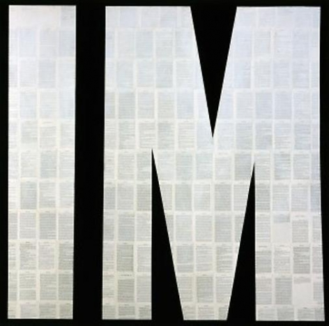Tim Rollins and K.O.S. Invisible Man (after Ralph Ellison), 1999. Matte acrylic on book pages mounted on canvas. 60 x 60 in. Collection of Dr. Rushton E. Patterson, Jr.
