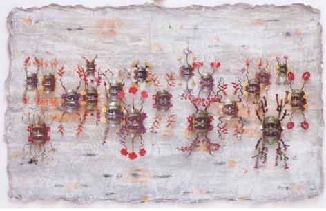 ASHLEY BICKERTON Green Reflecting Heads No. 3, 2006