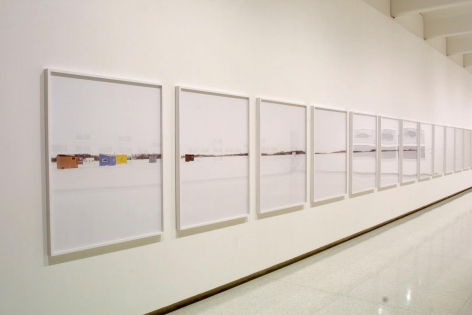 Installation view of Catherine Opie: Skyways & Icehouses at the Walker Art Center, Minneapolis