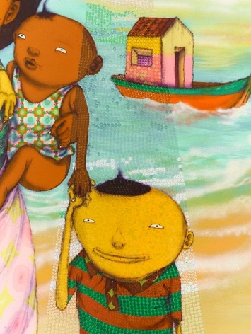 OSGEMEOS O anjo abduzido (The abducted angel) (detail), 2015
