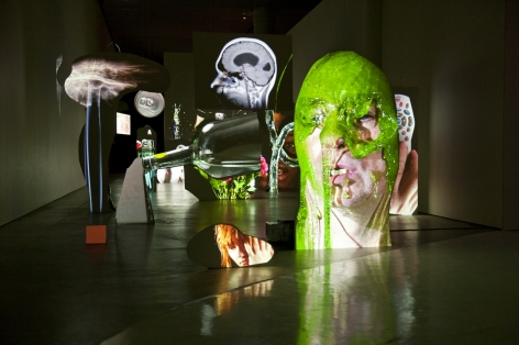 Tony Oursler: Face to Face, Installationview, ARoS Aarhus Kunstmuseum, Denmark, 2012