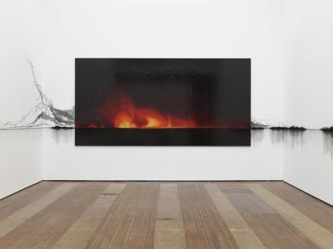 Teresita Fernández, Fire (America) installation view 1
