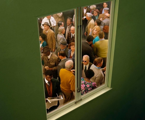 ALEX PRAGER Crowd #5 (Washington Square West), 2013