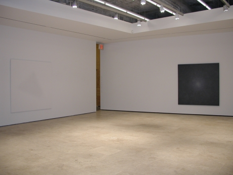 Installation view of Shirazeh Houshiary exhibition in 2003 at Lehmann Maupin in New York, view 1