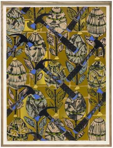 LARI PITTMAN, Found Buried: Textile for Crib Lining, 2020