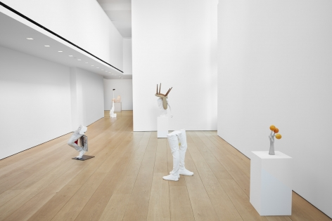 Installation view of Erwin Wurm's exhibition Yes Biological at Lehmann Maupin, New York, 2020, View 1
