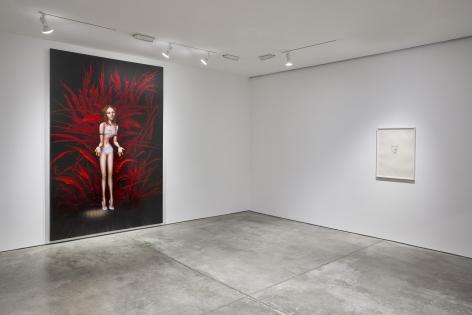 Margherita Manzelli,Bluebird, Installation view, Lehmann Maupin, New York, 2019