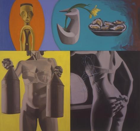 DAVID SALLE, Lanterns, 2002
