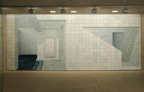 ADRIANA VAREJÃO installation view, Centro de Arte Contemporanea Inhotim in Brazil.
