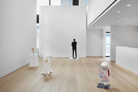 Installation view of Erwin Wurm's exhibition Yes Biological at Lehmann Maupin, New York, 2020, View 4