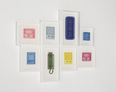 DO HO SUH, Intercoms, London Home & Studio, New York Home, Studio & Corridor, Berlin Home, and Providence Home; Lighting Fixtures, New York Studio & Corridors, Seoul Home, Berlin Home, Providence Home; Fuse Boxes, London Studio, New York Home, Studio & Corridor, 2019 (detail)
