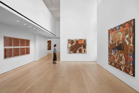Lari Pittman,Found Buried, Installation view, Lehmann Maupin, New York, 2020