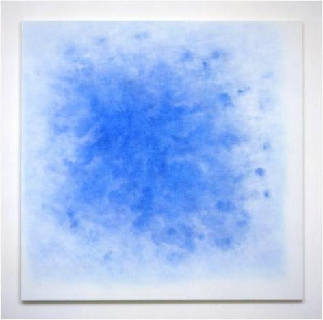 Web, 2005 white aquacryl and blue pencil on canvas