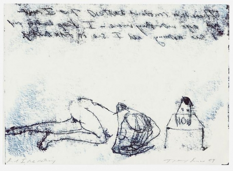 TRACEY EMIN And I see nothing, 2009