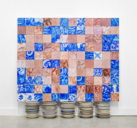 ADRIANA VAREJÃO, Tela Sobre Platos (Painting on Plates), 1999