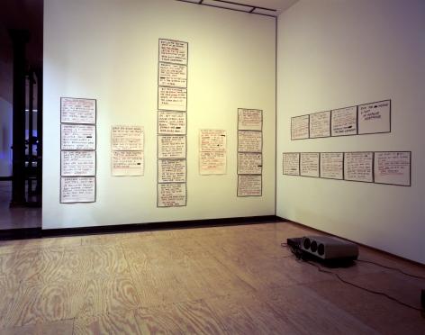 The Poetics Project: 1977-1997, Barcelona Version Installation at Lehmann Maupin, Richard Meier Model view 3