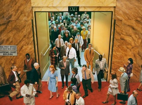 ALEX PRAGER Crowd #8 (City Hall), 2013