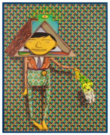 OSGEMEOS, Taking the dog for a walk, 2019