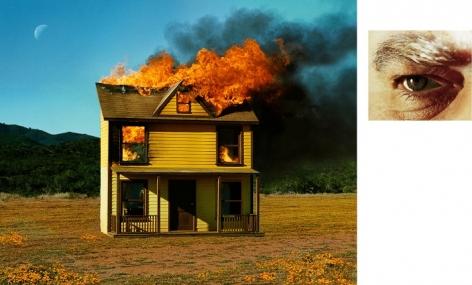 Alex Prager, Compulsion: 4:01pm, Sun Valley / Eye #3 (House Fire), 2012