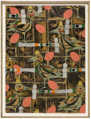 LARI PITTMAN, Found Buried: Textile for a Courtroom, 2020