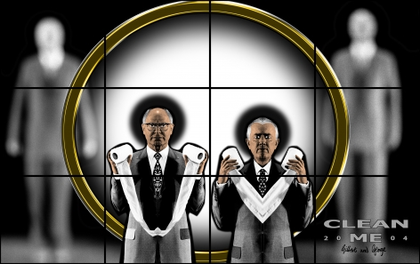 GILBERT & GEORGE, Clean Me, 2004