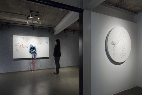 Nicholas Hlobo, Installation view, Lehmann Maupin, Seoul, 2019