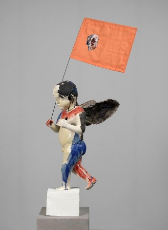 ANNE CHU Putti with Flag, 2011