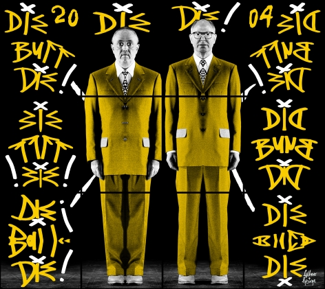 GILBERT & GEORGE, Die Buff Die!, 2004