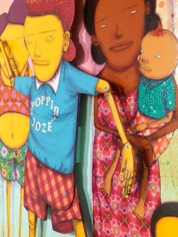 OSGEMEOS O Dia Da Festa de Break (The Break Party's Day) (detail), 2016