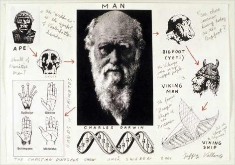 JEFFREY VALLANCE Prehistoric Dinograms: Man, 2001