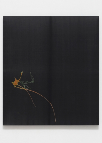 LEE BUL, Untitled (Silk Painting - Black), ca. 2002-2004