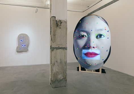 Tony Oursler, PriV%te Installation view 1