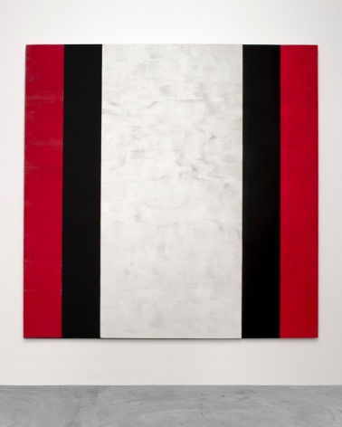MARY CORSE Untitled (Red, Black, White), 2015