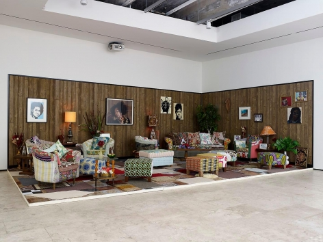 MICKALENE THOMAS: How to Organize a Room Around a Striking Piece of Art Installation view 2
