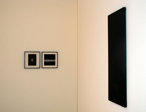 Installation view of Shirazeh Houshiary exhibition in 2003 at Lehmann Maupin in New York, view 2