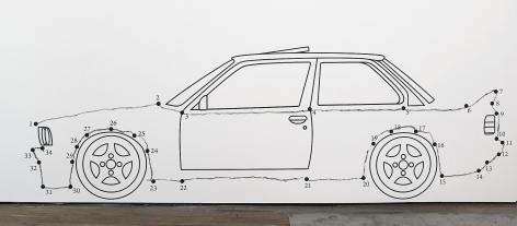 ROBIN RHODE Paries Pictus - Connect the Dots: Car, 2013