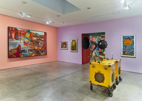 OSGEMEOS, Silence of the Music installation view 10
