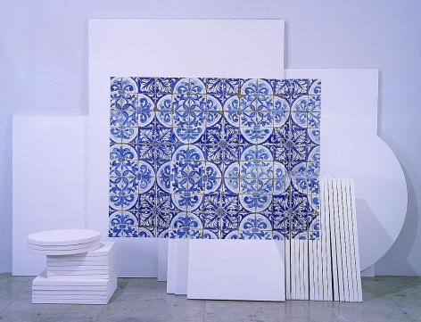 阿德里安娜·瓦萊喬 Azulejaria 'de Tapete' sobre Telas, (Carpet-Style Tilework on Canvases), 1999