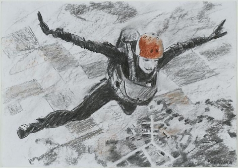 """ALEXEY KALLIMA From the series """"Chechen Women's Team of Parachute Jumping and Its Virtual Fans"""", 2008"""
