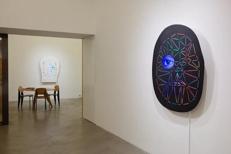 Tony Oursler, PriV%te Installation view 3