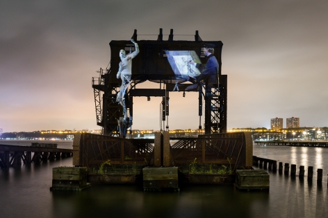 Tear of the Cloud, Installation view, Riverside Park South, Public Art Fund, New York, 2018