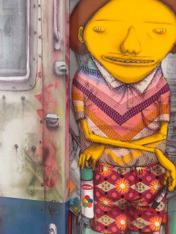 OSGEMEOS Momentos mágicos (Magic Moments) (detail), 2015
