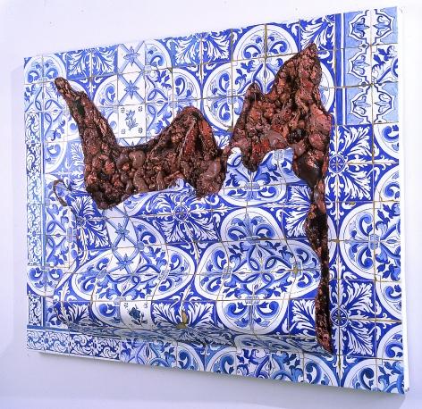 ADRIANA VAREJÃO, Azulejaria 'De Tapete em Carne Viva' (Carpet-Style Tilework in Live Flesh), 1999