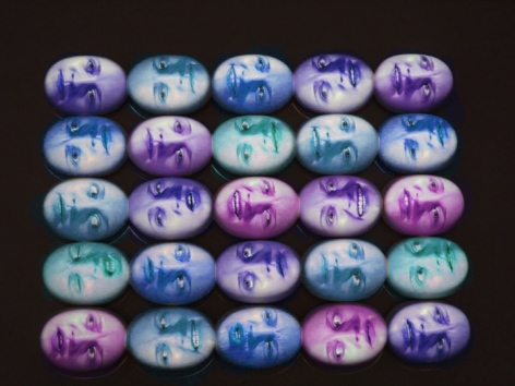 TONY OURSLER, Blue Phased MPD (25 heads), 1999