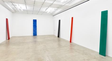 Installation view of John McCracken: Planks, New York, Venus Over Manhattan, 2017