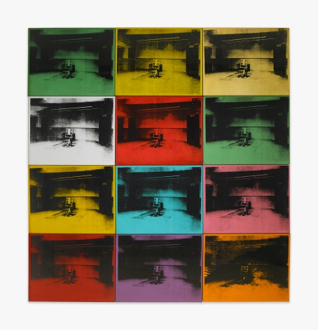Andy Warhol Twelve Electric Chairs, 1964