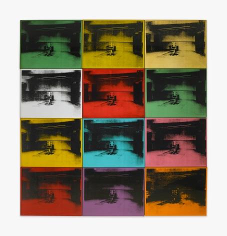 Andy Warhol Twelve Electric Chairs, 1964