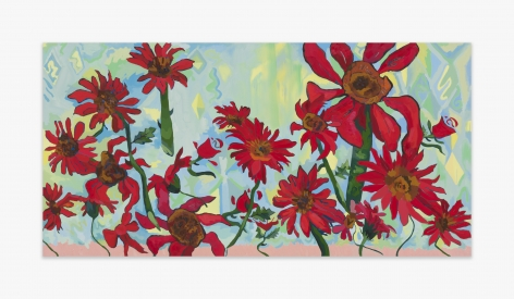 Alex Chaves Red Flowers, 2016