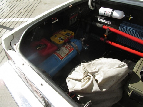 At first glance, the trunk to Tom Sachs's '89 Chevy Caprice looks innocuous enough.,